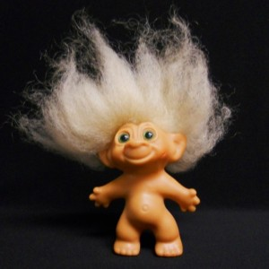 Troll dolls came originally from Denmark; inexplicably, they were one of the biggest toy fads of the 1960s in America.
